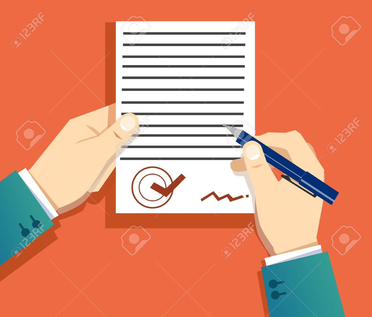 signing a document - 128155167