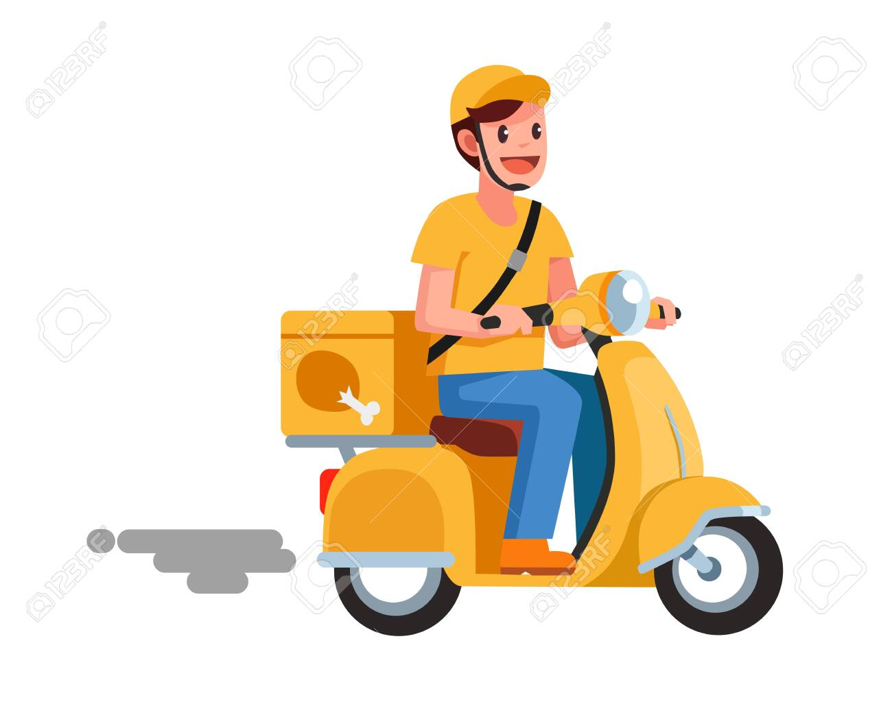 food delivery man - 128155168