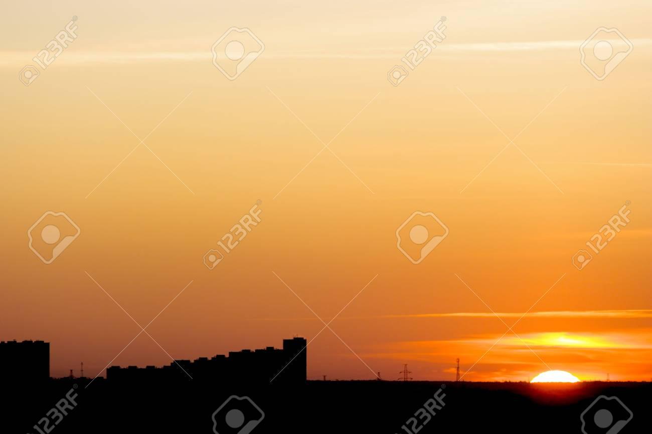 Colorful urban scenery sunset. Stock Photo - 3914898