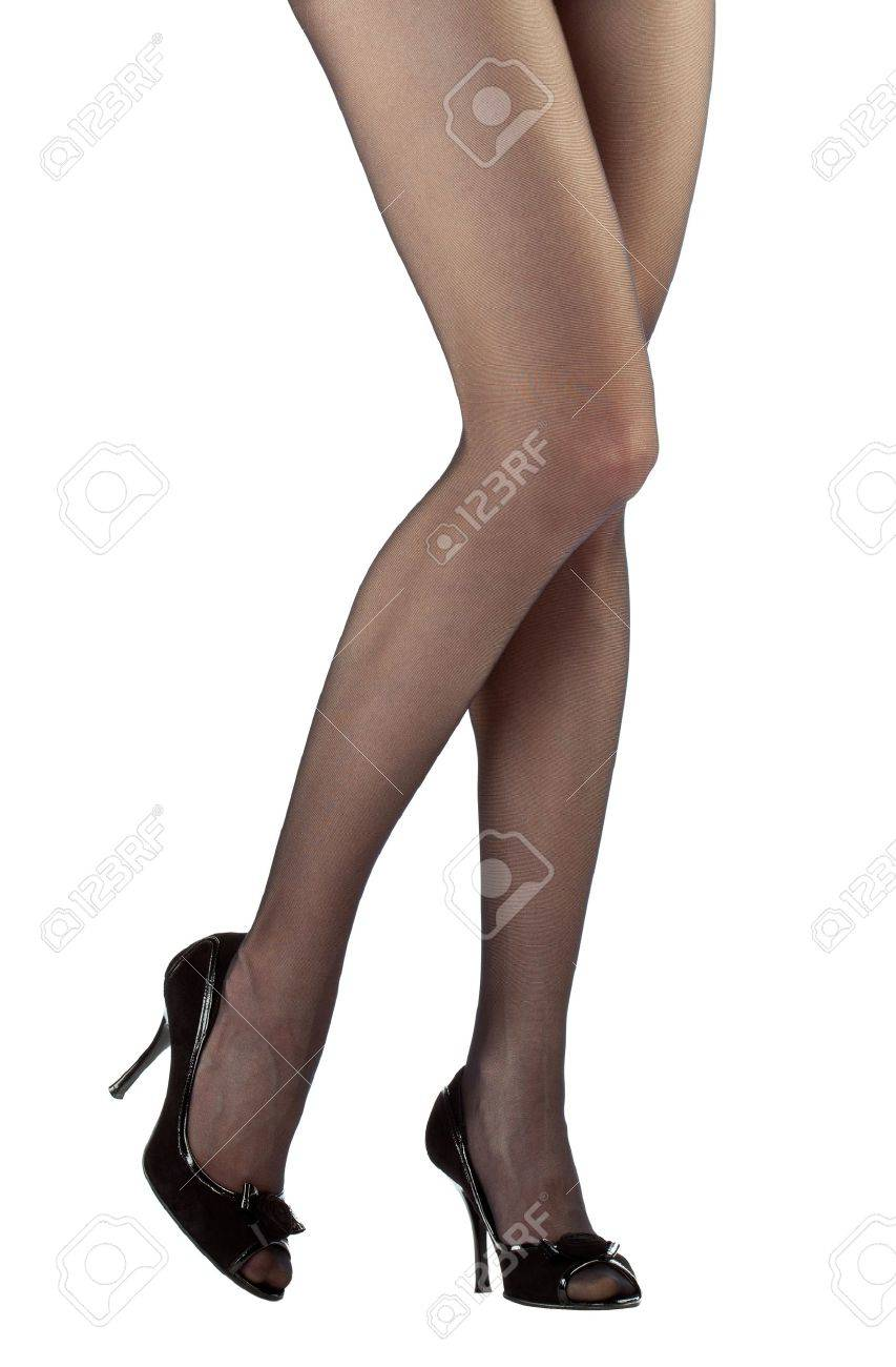 Beautiful woman's legs isolated over white background Stock Photo - 13039133