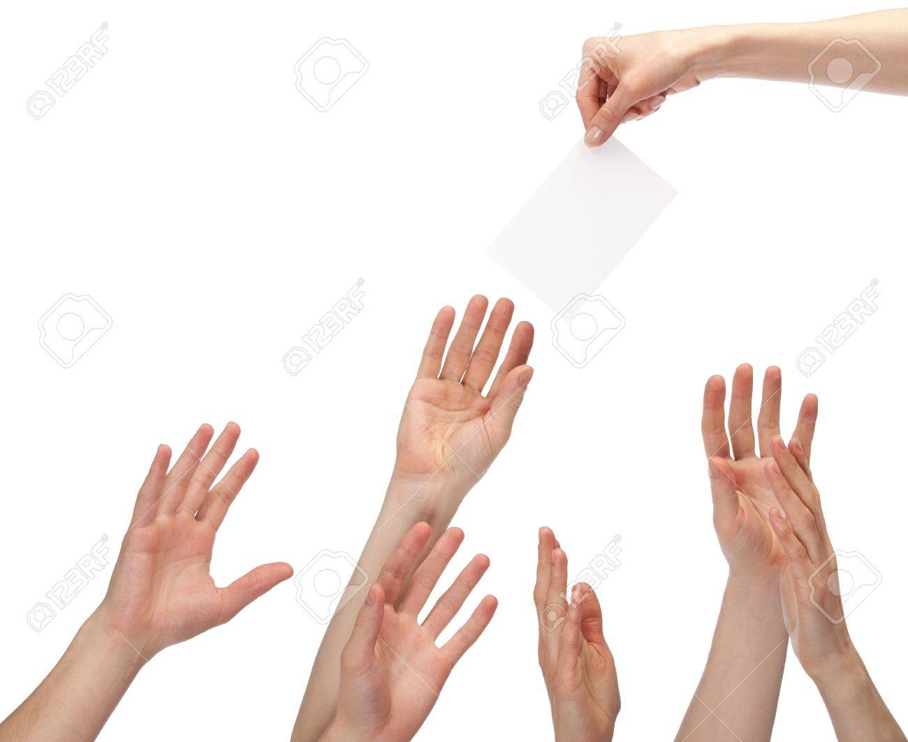 many hands wanting to get offer you can write your text on a many hands wanting to get offer you can write your text on a white sheet