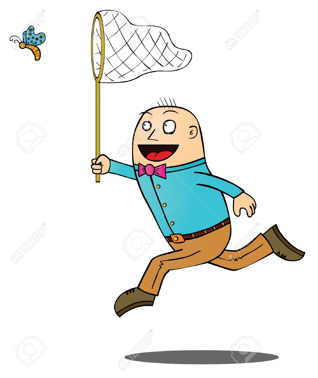 Man Catching Butterfly Royalty Free Cliparts Vectors And Stock