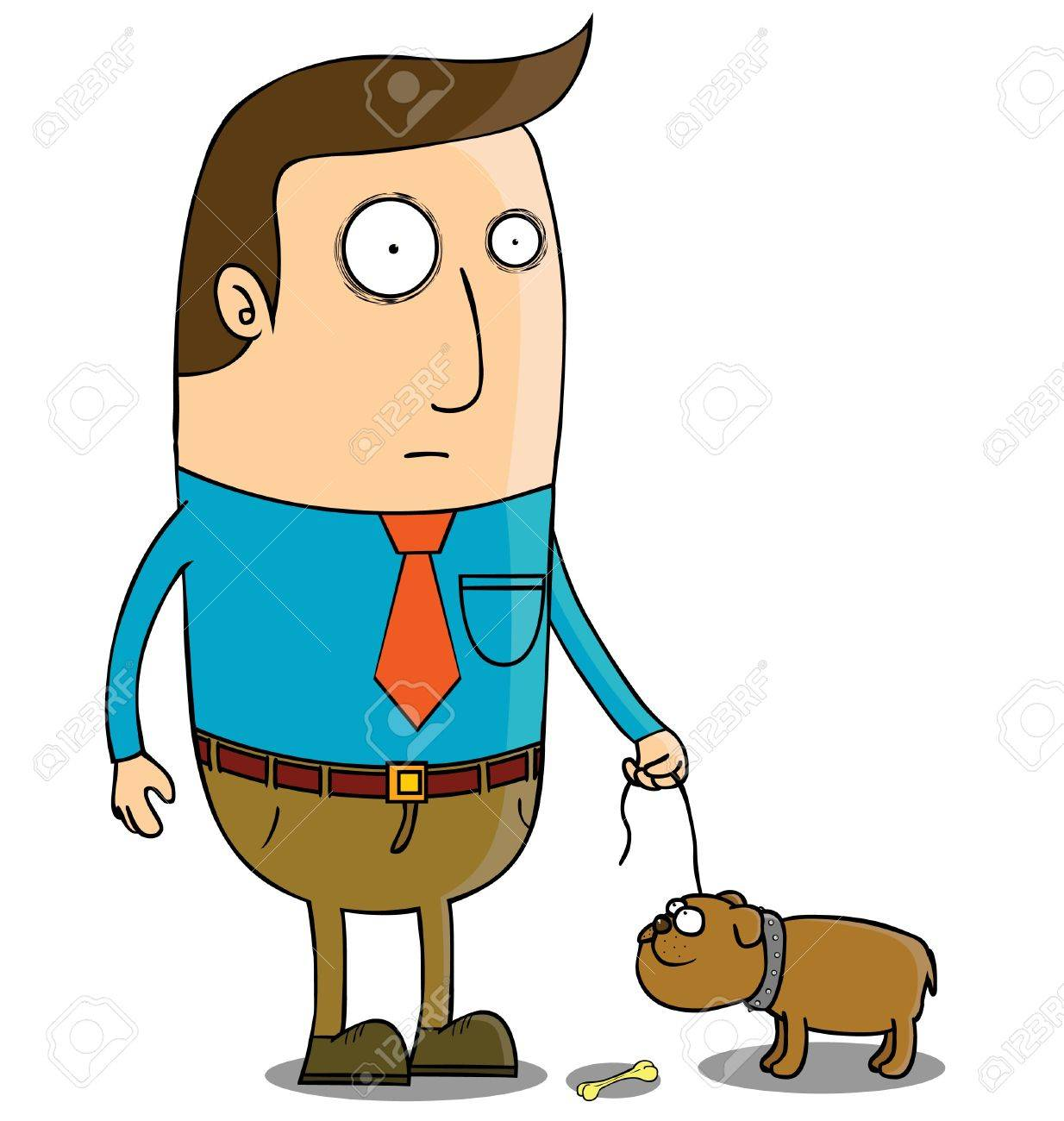 Walking with dog Stock Vector - 16105632