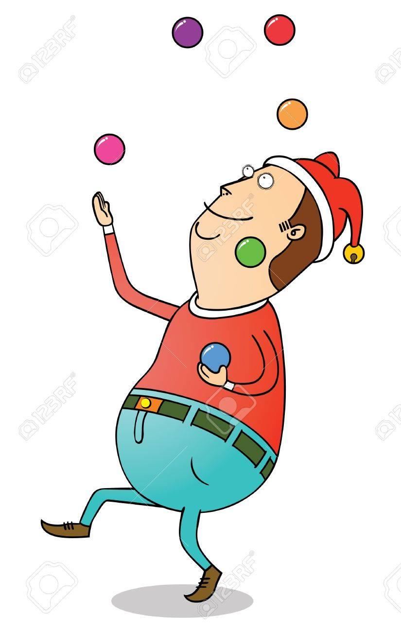 Christmas Clown Stock Vector - 16883520
