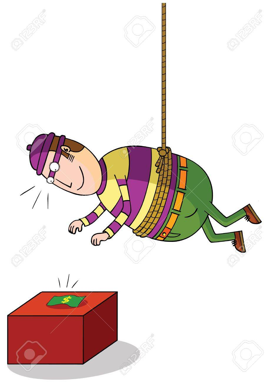 hanging thief Stock Vector - 17048874