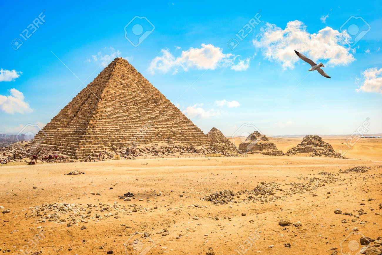 Cloudy sky in Giza - 166767591