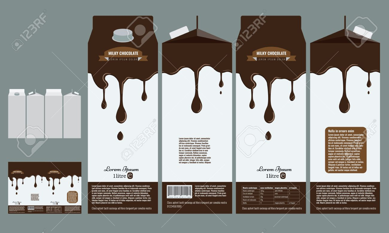 Branding Package Design Milky Chocolate Package Box Design Template