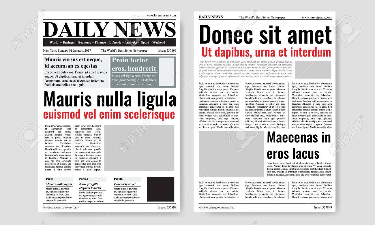 Plantilla De La Revista Del Vector Periódico De La Vendimia ...