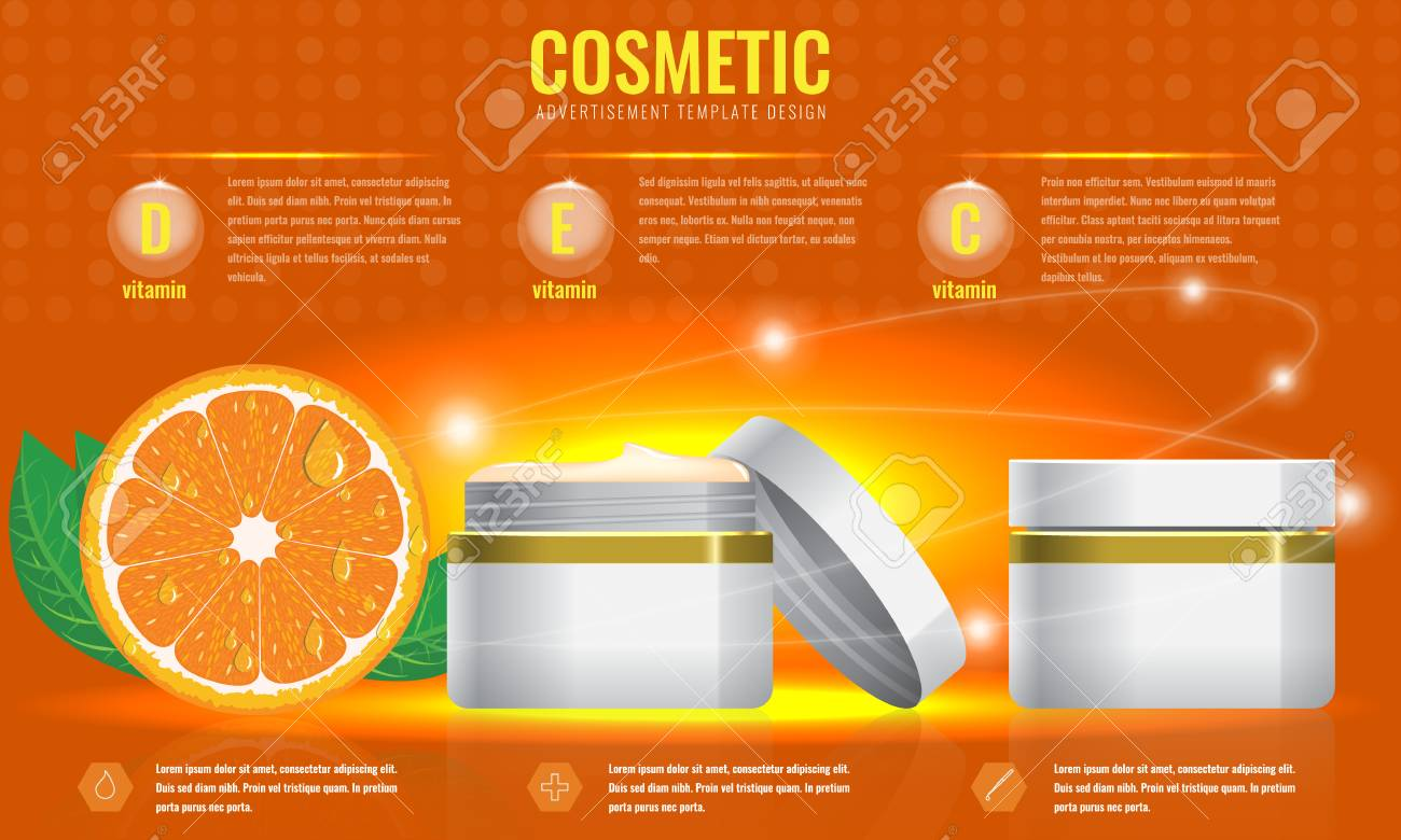 Cosmetic Ads Template Blank Cosmetic Mockup With Sparkling Effect - Product ad template