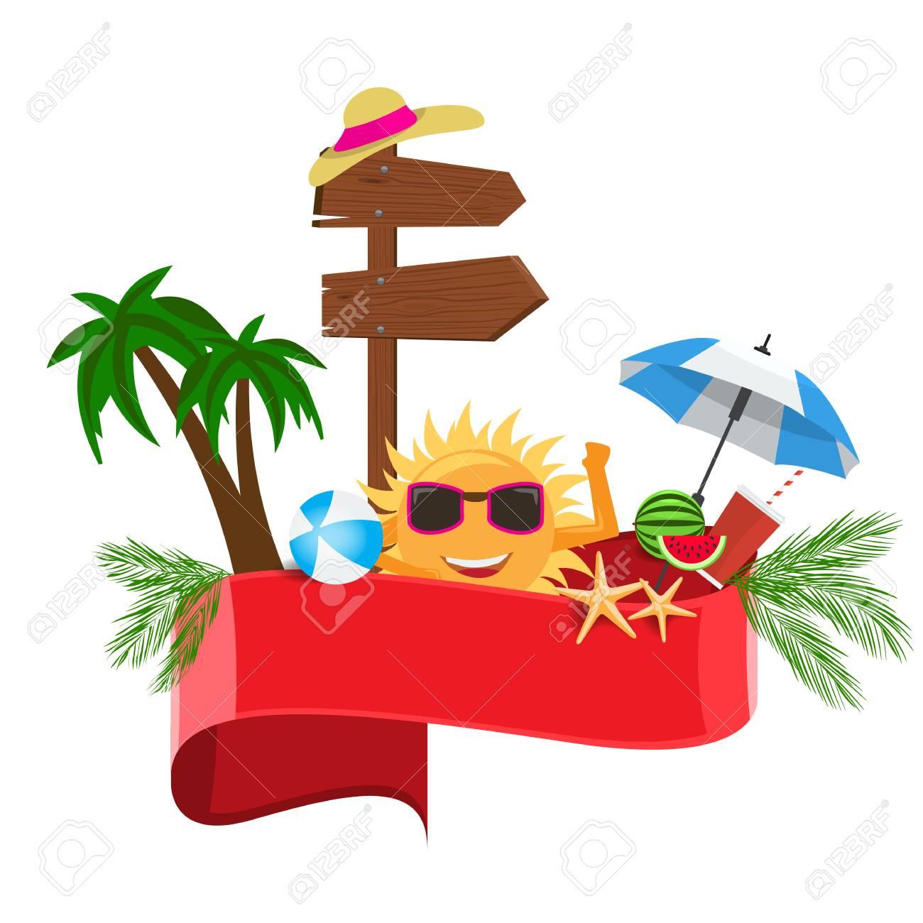 summer vector banner design concept with summer cartoon calligraphy rh 123rf com summer vector background summer vector files