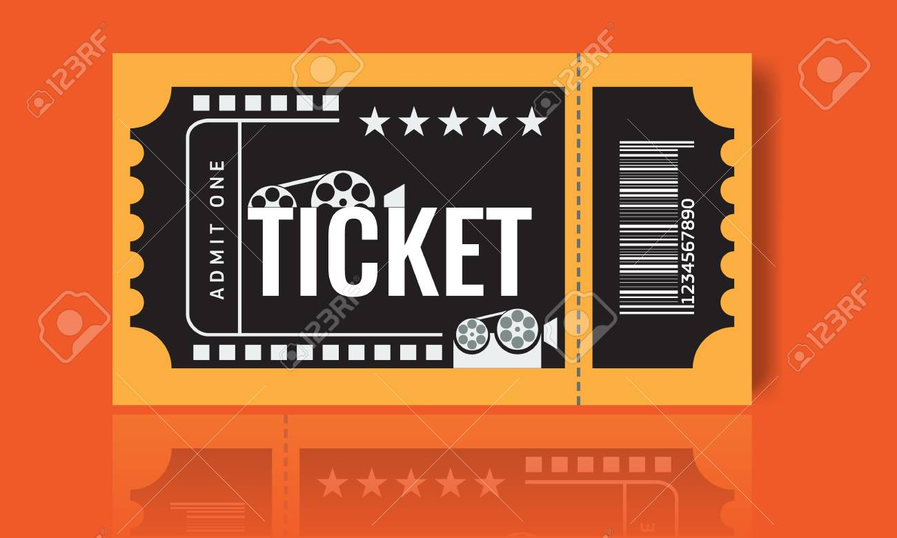 cinema ticket sample template design trendy vector royalty free