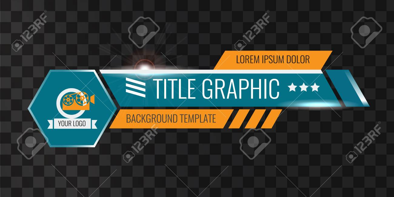 Video Headline Title Or Lower Third Template Creative Banner