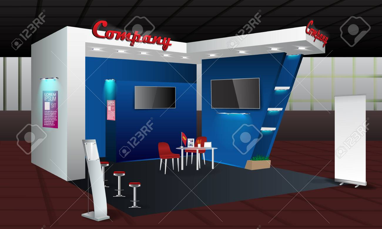 Exhibition Stand Roll Up : Exhibition stand display design with info board roll up trade