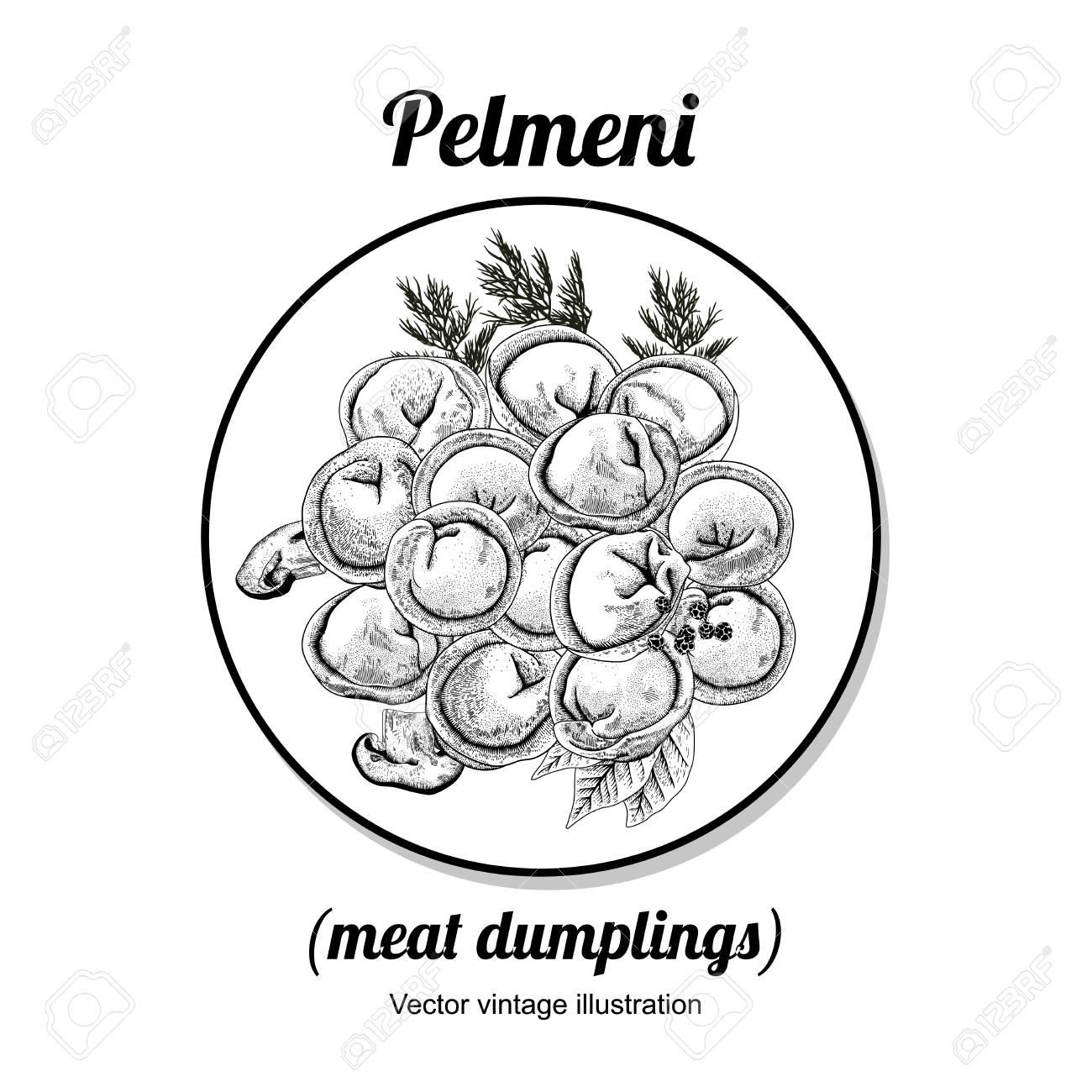 pelmeni meat dumplings food dill parsley black pepper bay  pelmeni meat dumplings food dill parsley black pepper bay leaf