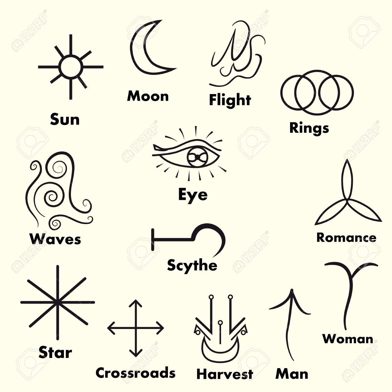 Set of witches runes wiccan divination symbols ancient occult set of witches runes wiccan divination symbols ancient occult symbols on white biocorpaavc Choice Image