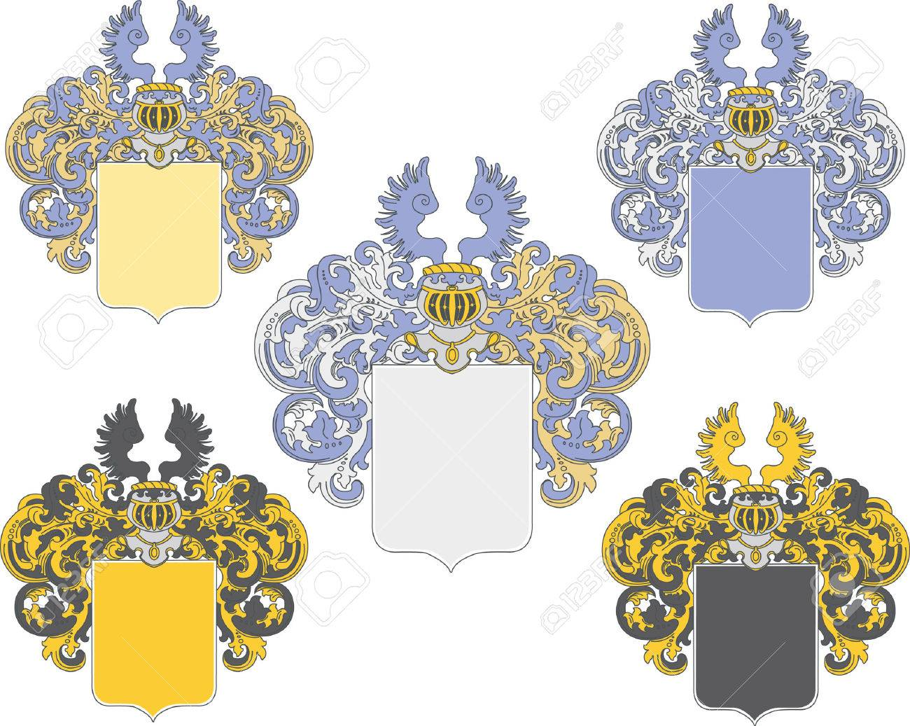 coat of arms in various colors schemes Stock Vector - 6891922