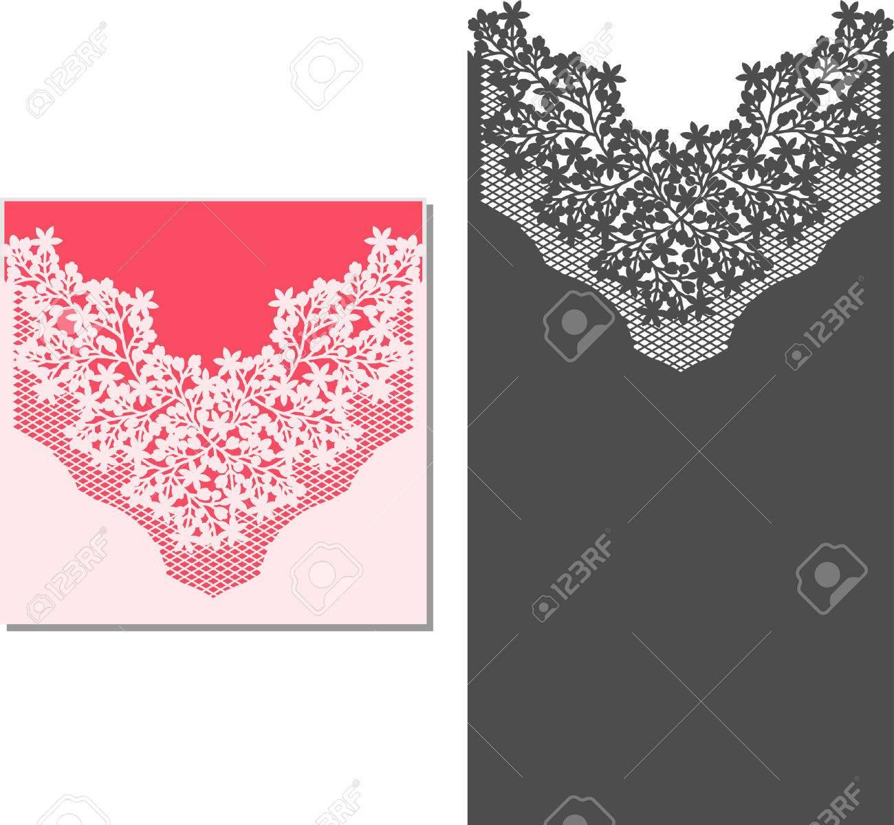 Laser Cut Invitation Card. Laser-cut Pattern For Invitation Wedding ...