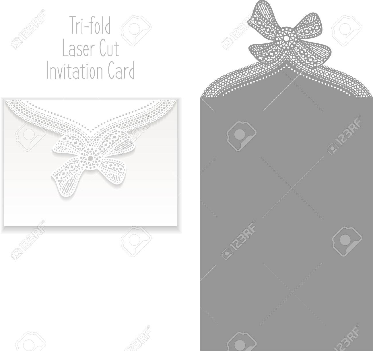 Laser Cut Invitation Card Lasercut Pattern For Invitation – Wedding Card Envelope Template