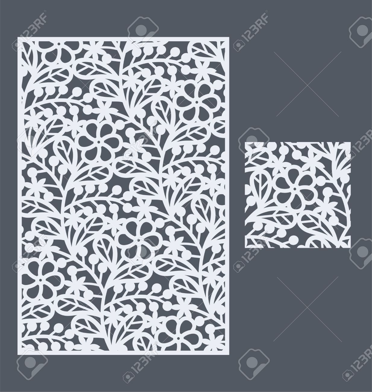 laser cut panel and the seamless pattern for decorative panel