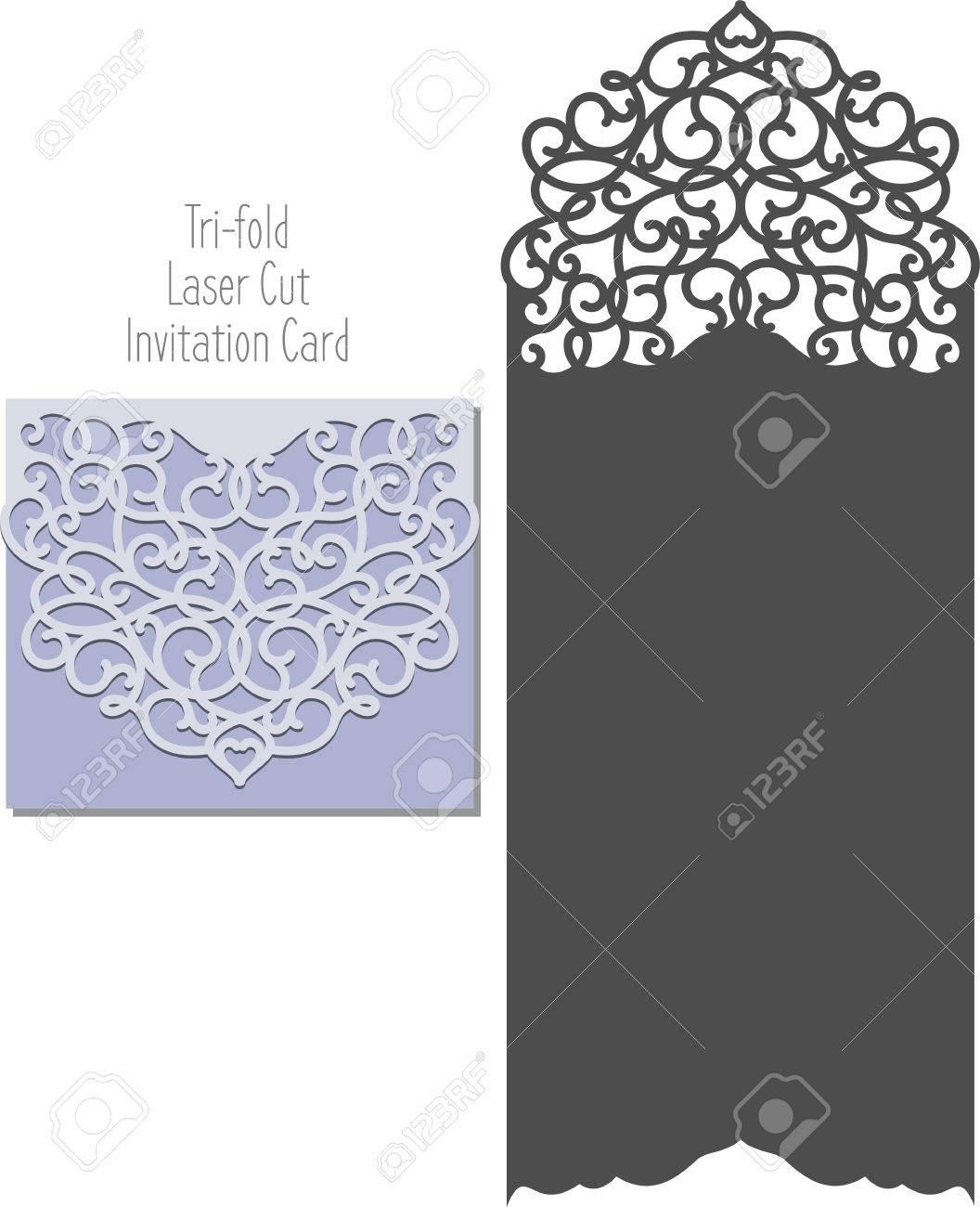 Laserschneiden Muster Für Die Einladung Hochzeit Karte.
