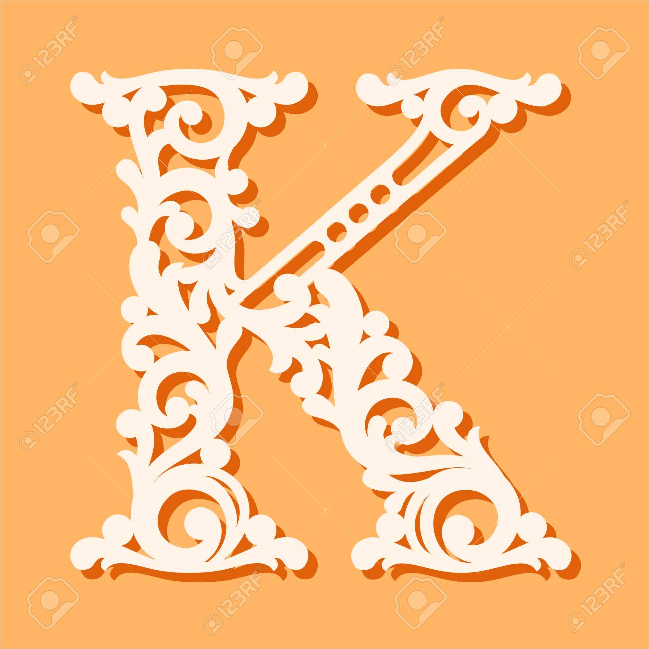 fancy letter s template  Stock Photo