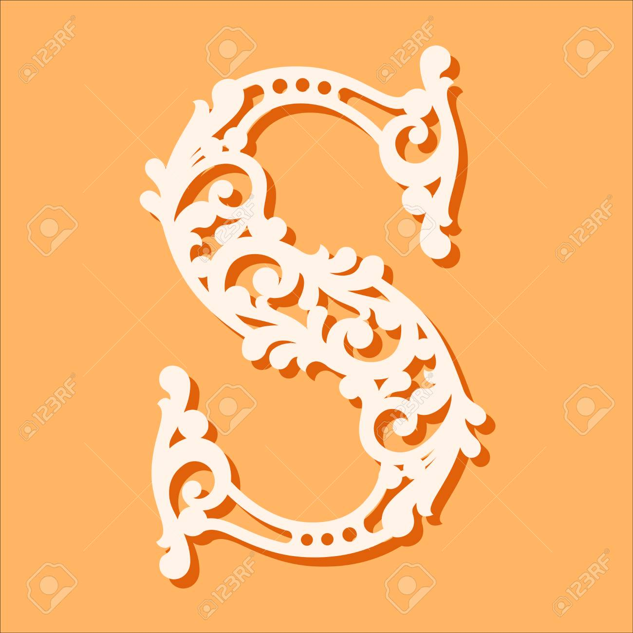 laser cut template initial monogram letters fancy floral alphabet