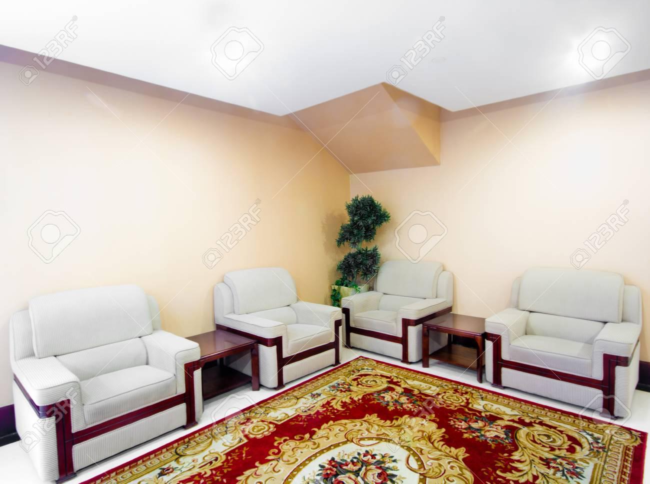 Soggiorno Indoor Divano E Tappeto Foto Royalty Free, Immagini ...