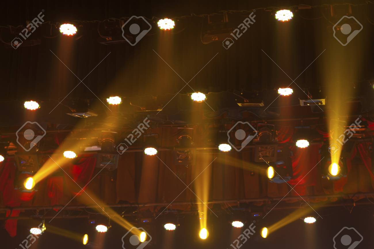 stage lights colorful in a nightclub venue Stock Photo - 18574700