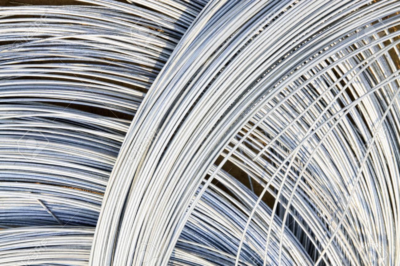 Galvanized Iron Wire On The Ground, Closeup Of Photo Stock Photo ...