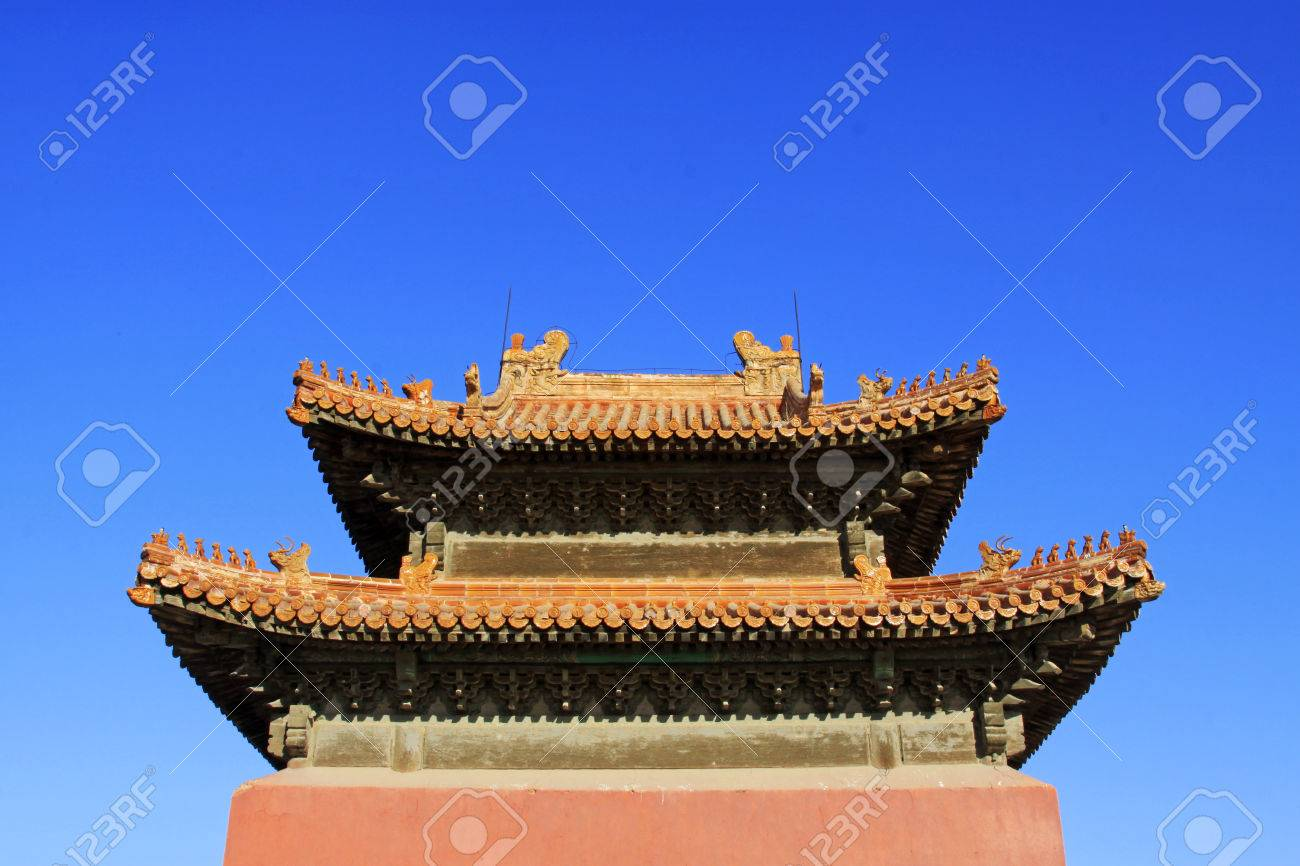 China S Traditional Double Hipped Roof Structures In The Eastern Stock Photo Picture And Royalty Free Image Image 26475456