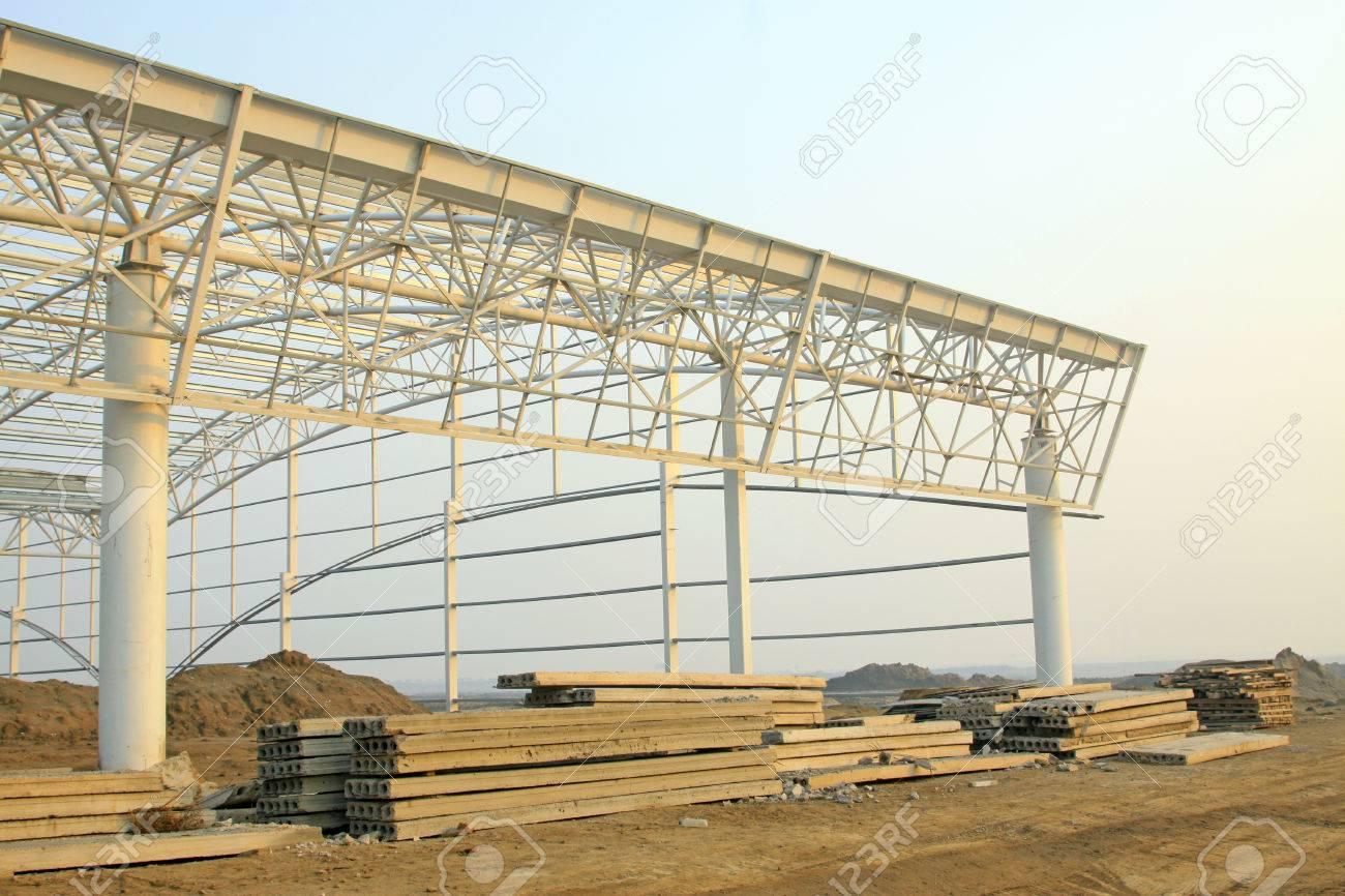Factory workshop steel structure truss and precast concrete panel,