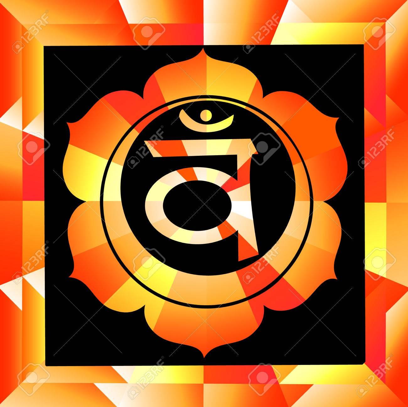 Swadhisthana chakra vector illustration - 34629490