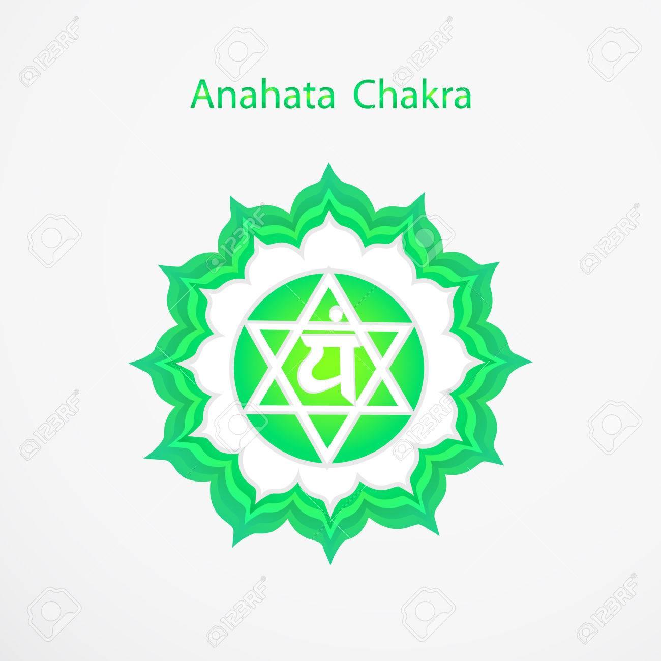 Symbol of Anahata chakra vector - 34656796
