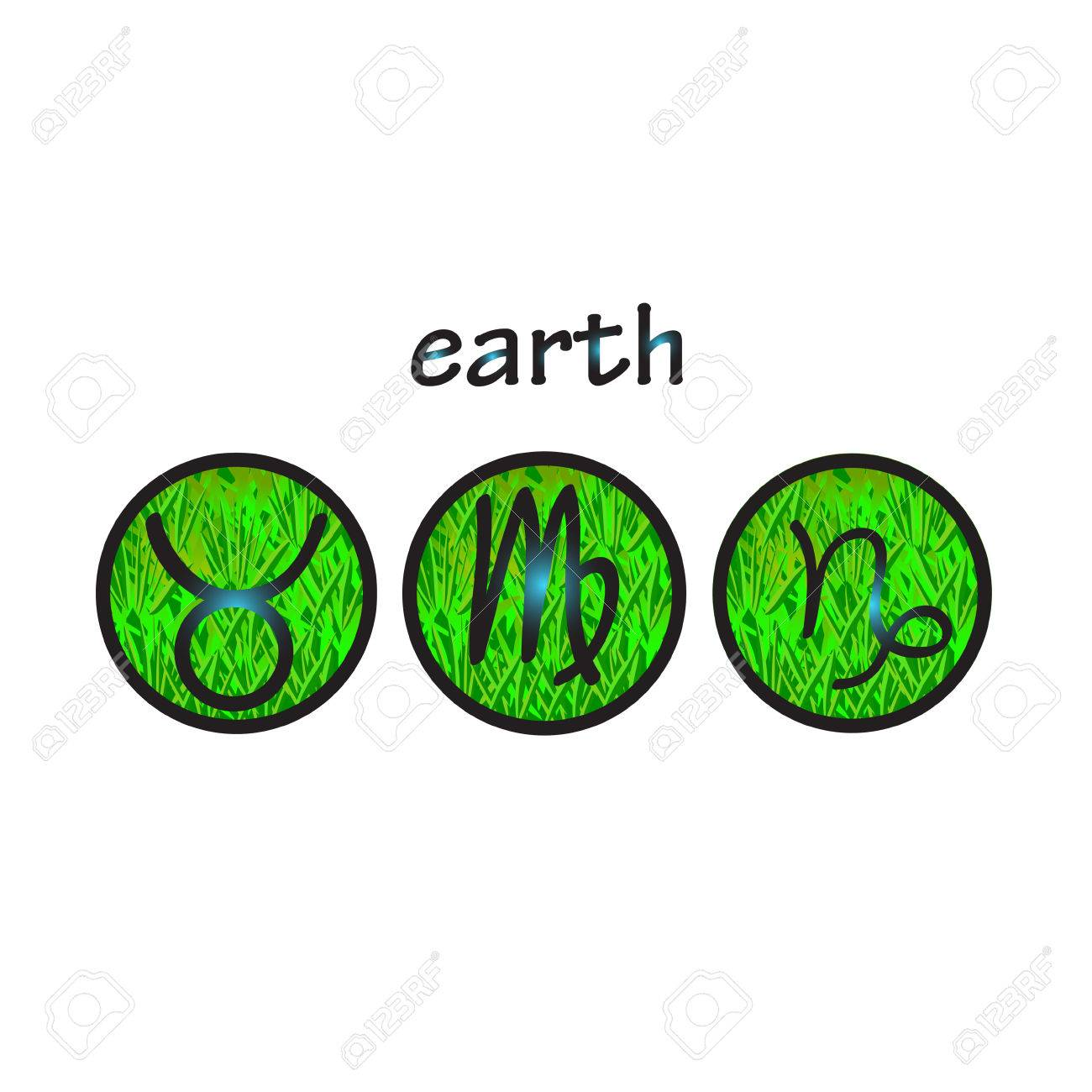 Horoscope symbols earth element taurus virgo capricorn royalty horoscope symbols earth element taurus virgo capricorn stock vector 52485984 buycottarizona