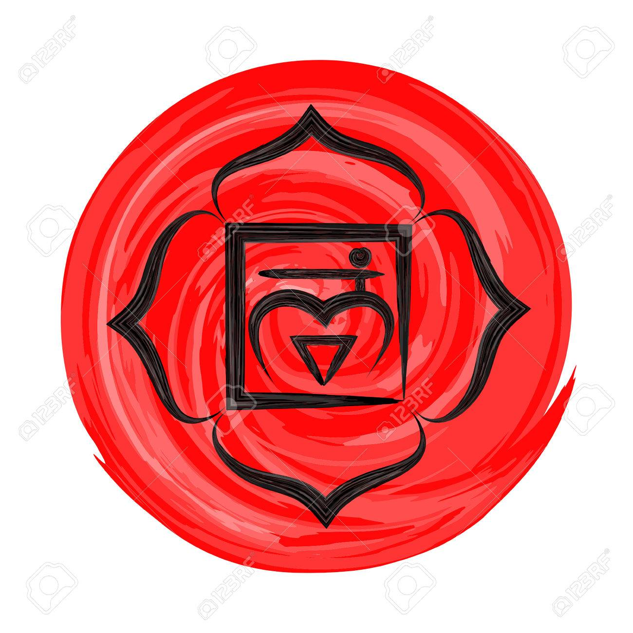 Muladhara chakra vector illustration - 68671587
