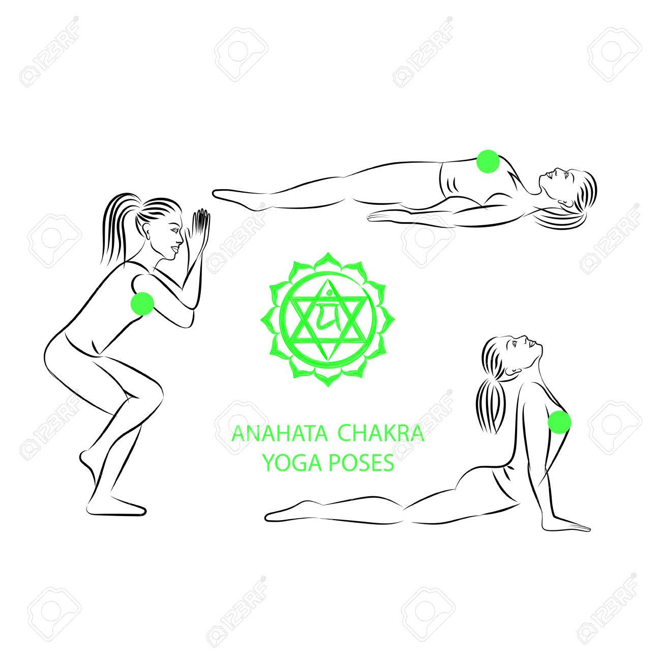Yoga poses for Anahata chakra activation