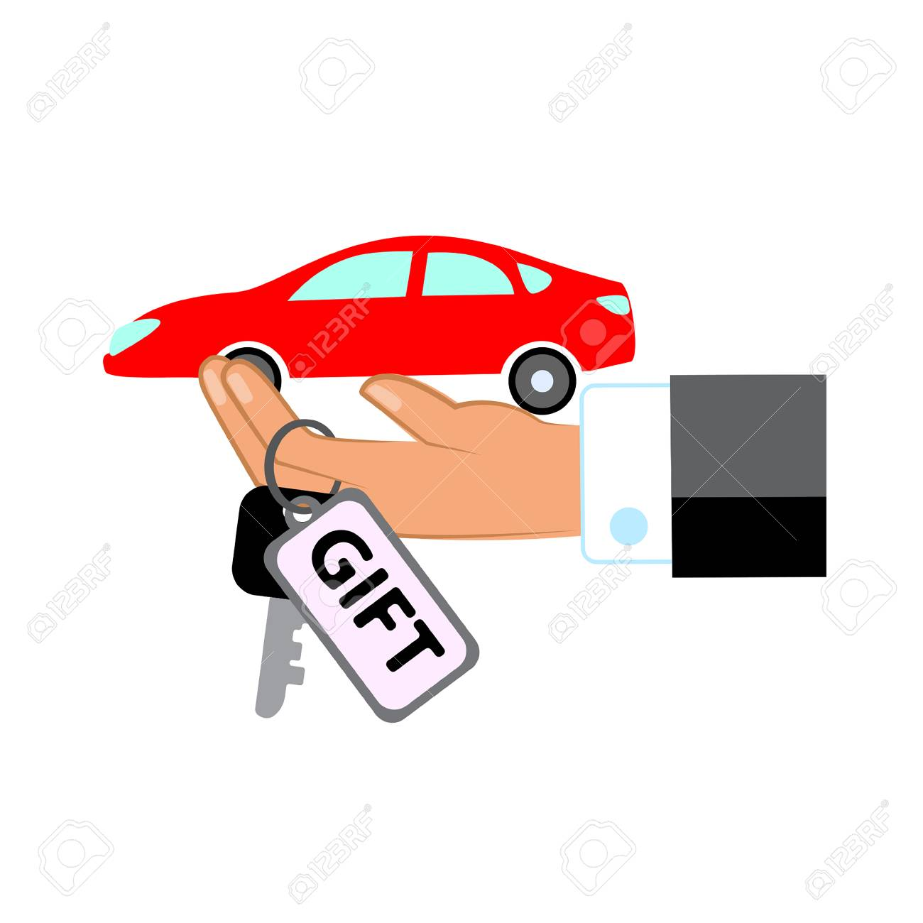 Hand With Car Symbol Royalty Free Cliparts Vectors And Stock