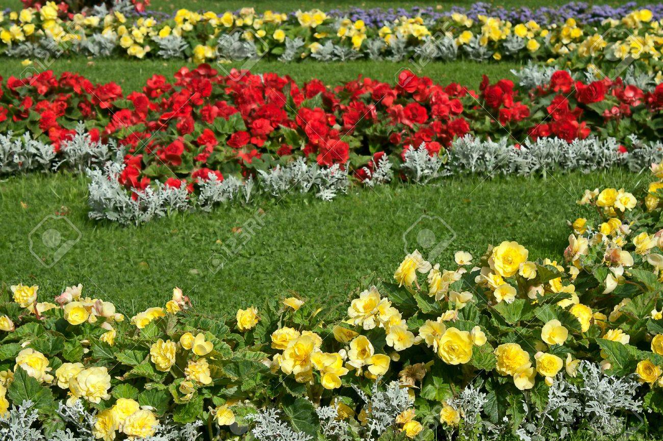 Flowers and grass in flower bed  Example of landscape design  Stock Photo    15917654. Flowers And Grass In Flower Bed  Example Of Landscape Design