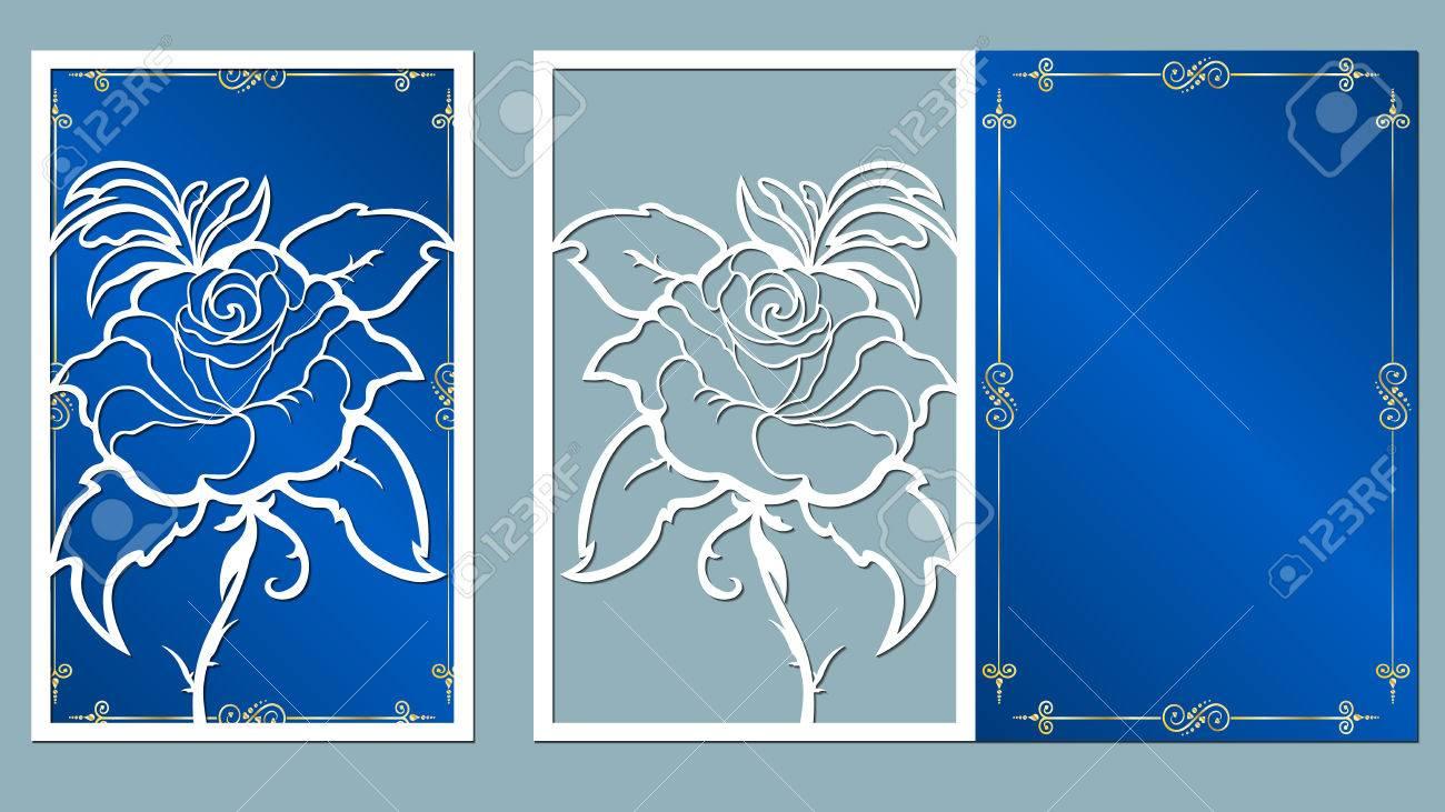 Laser cut card roses cutting template wedding vector laser cut card roses cutting template wedding vector mightylinksfo