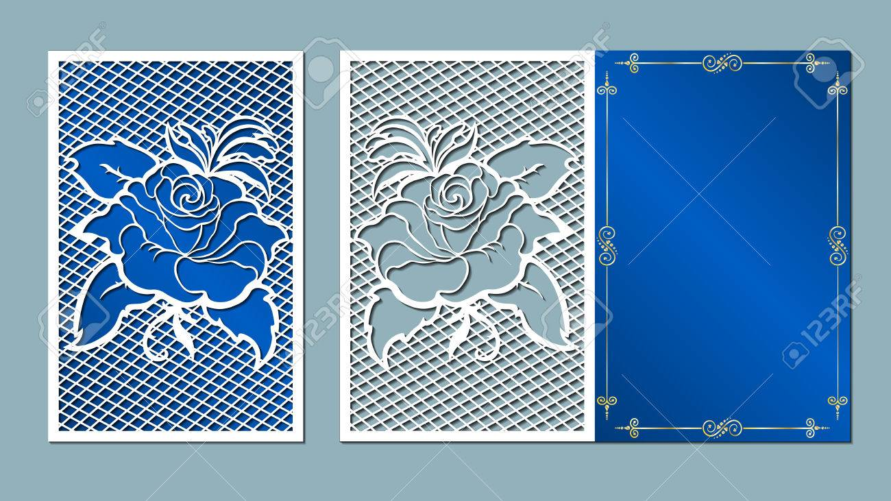 Laser cut card roses cutting template wedding vector laser cut card roses cutting template wedding vector mightylinksfo