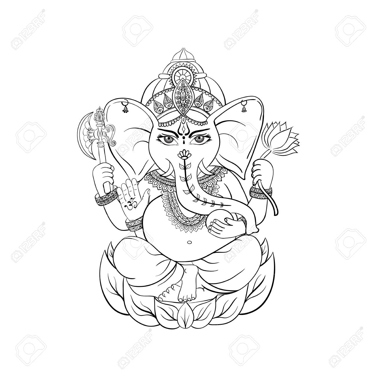 Vector Lord Ganesha Design Background For Hindu Festival Ganesh