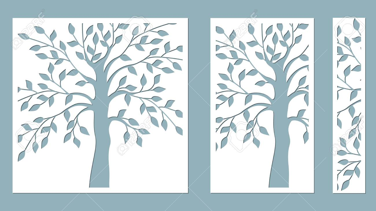 Laser Cut Vector Design Laser Cutting Template Tree Paper