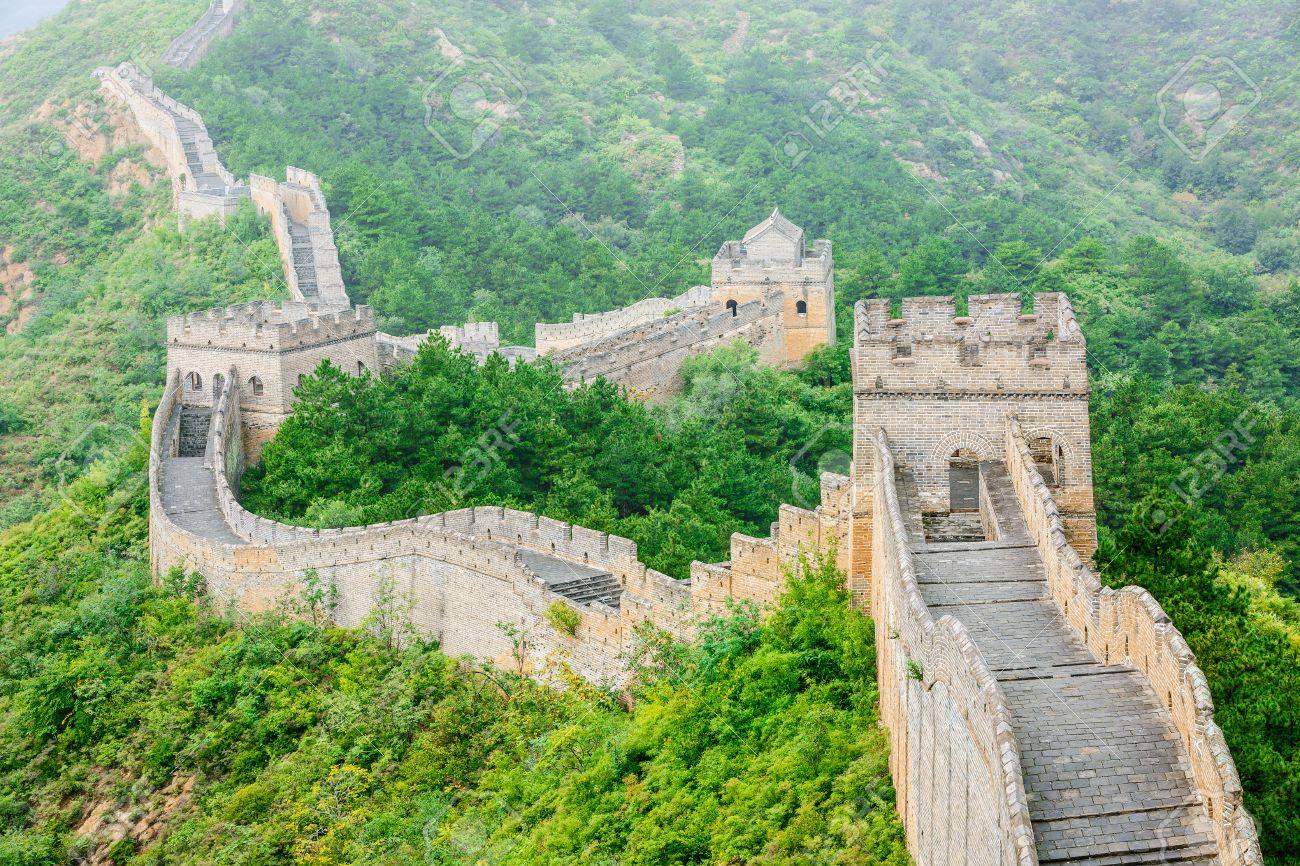 Beautiful scenery of the Great Wall, China - 56205745