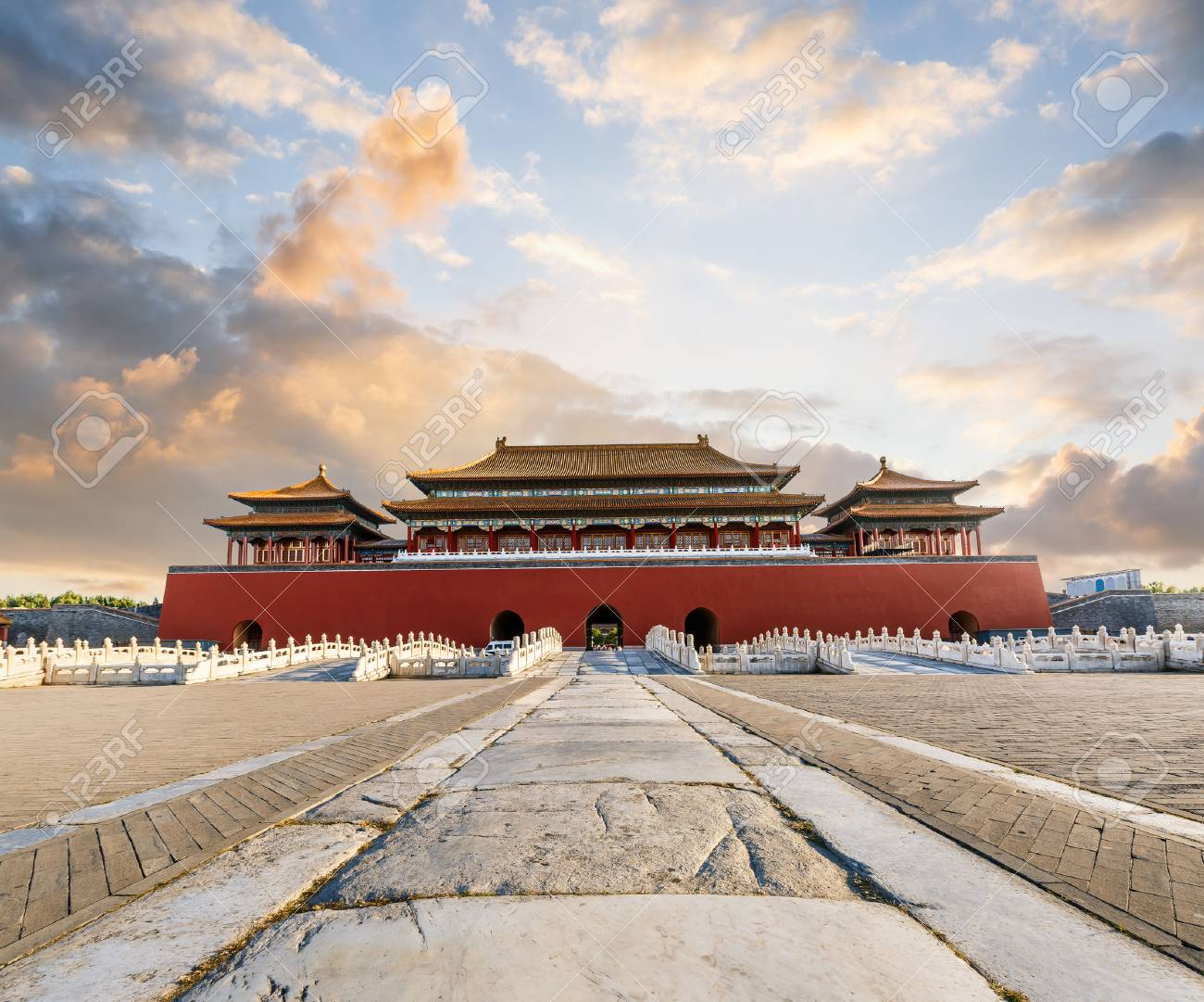 The ancient royal palaces of the Forbidden City in Beijing,China - 62319463