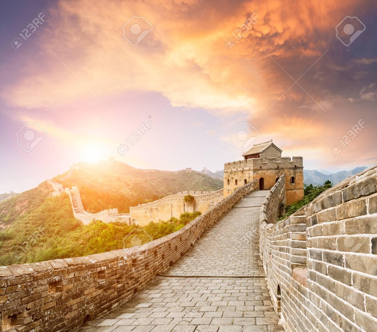 The famous Great Wall of China,jinshanling - 62760279
