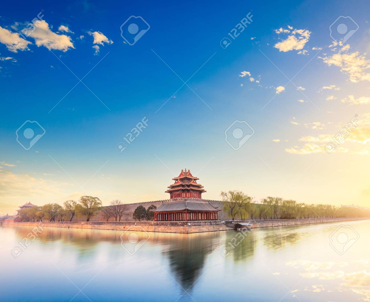 Beijing the Imperial Palace watchtower at dusk - 74552772