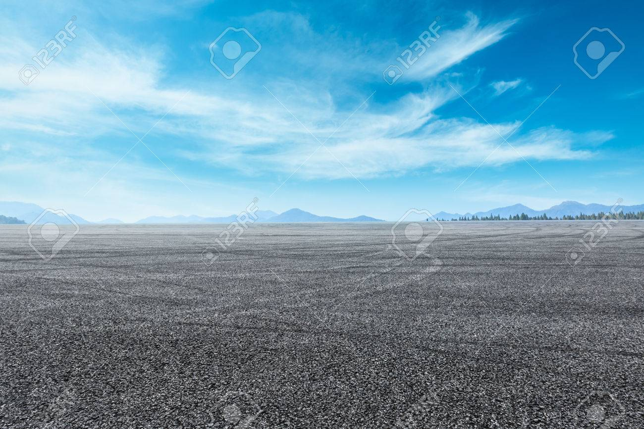asphalt highway under the blue sky - 81056080