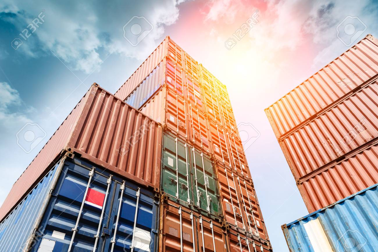 Industrial Container yard for Logistic Import Export business - 81289504