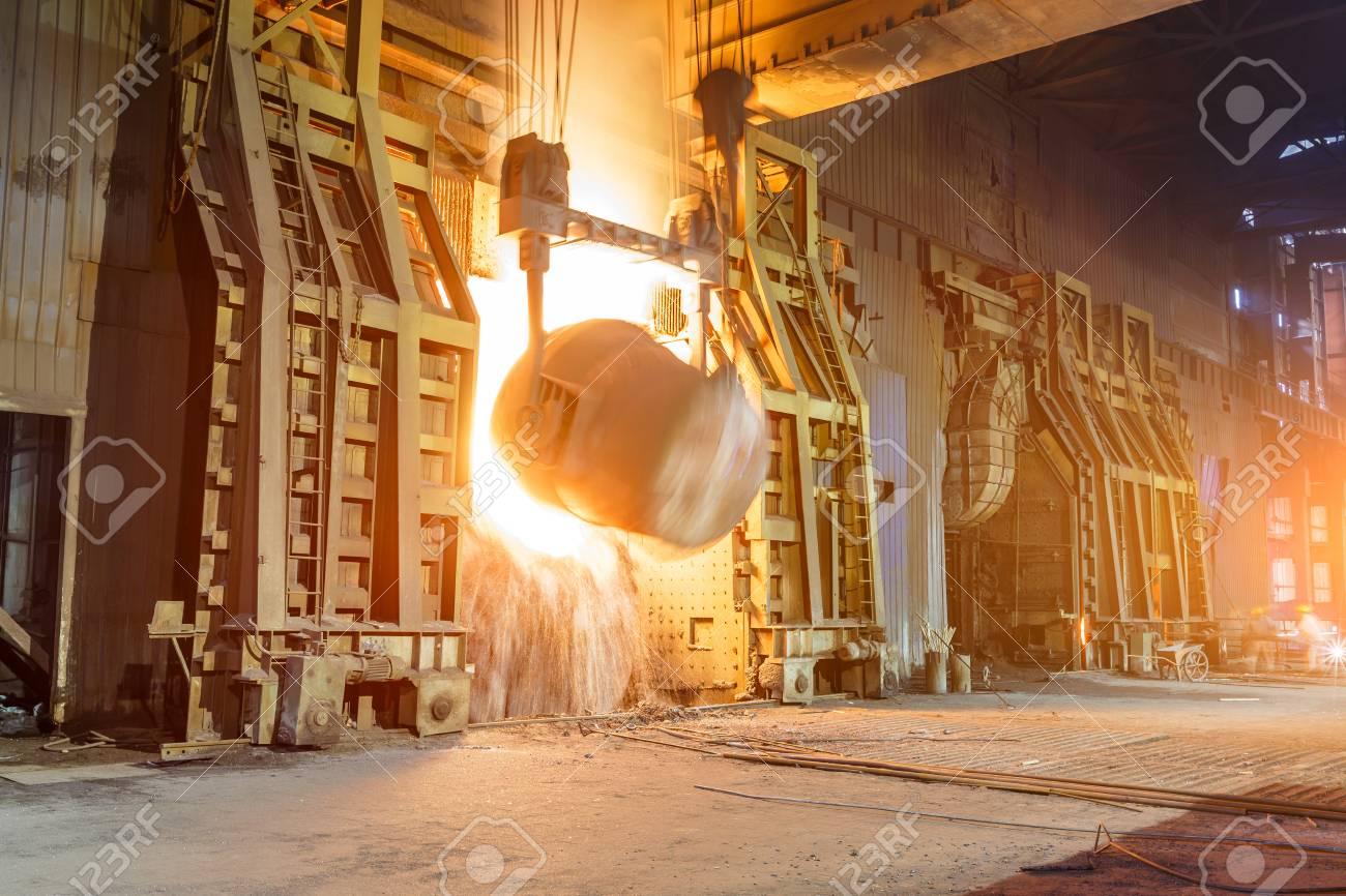 Blast furnace smelting liquid steel in steel mills - 83347966