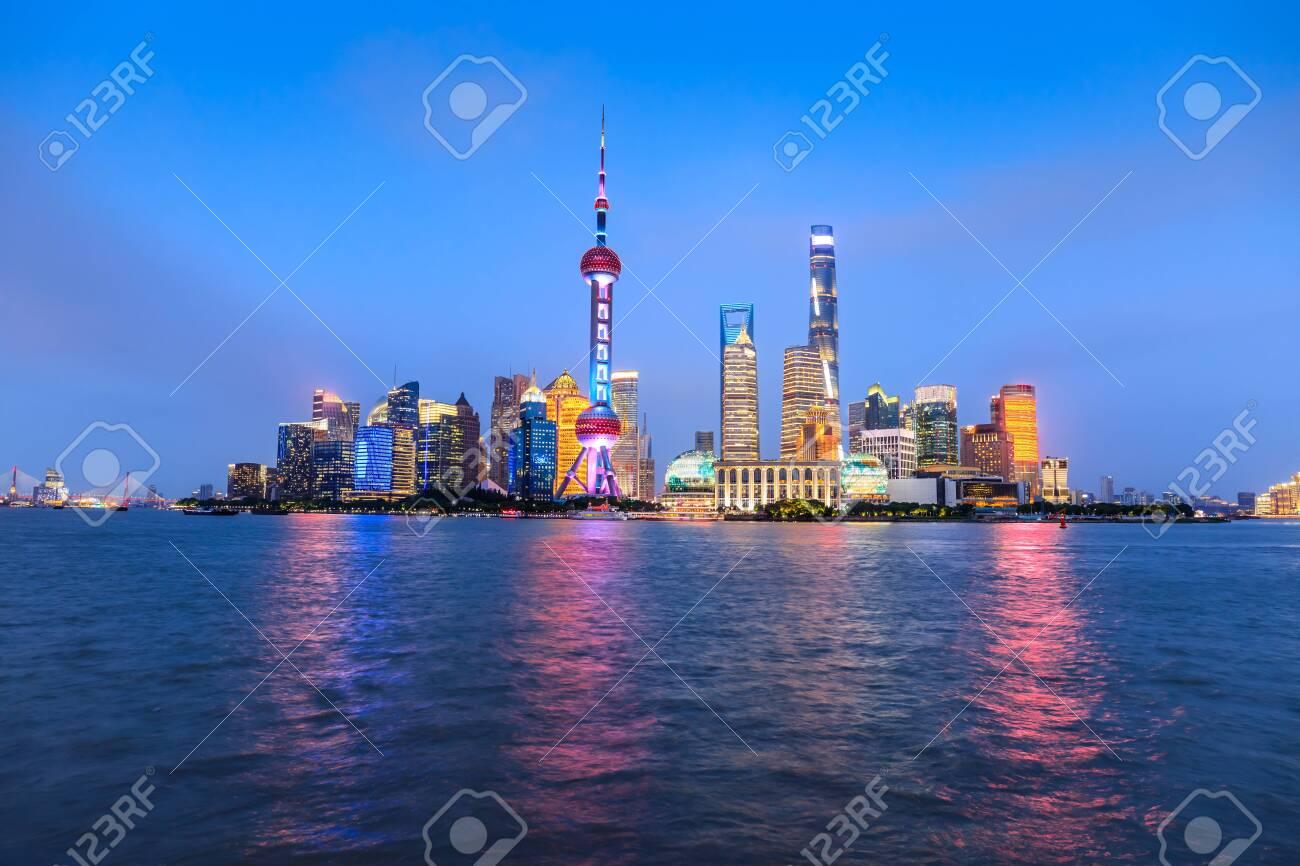 Beautiful Shanghai skyline and buildings at night, China. - 152453818